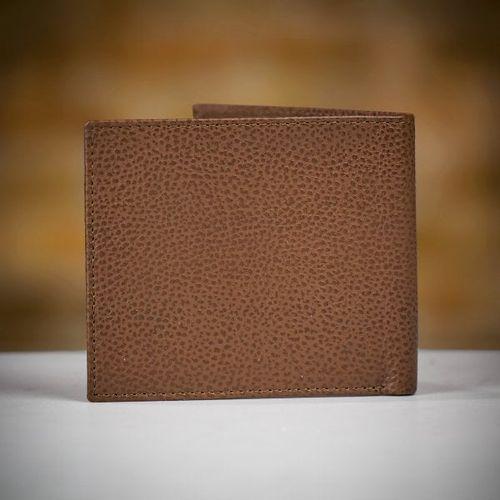 Barbour Grain Leather Billfold Wallet - Tan, Farrar & Tanner