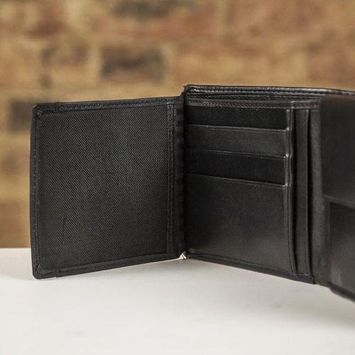 Farrar & Tanner Deluxe Nappa Leather Fold Out Wallet - Black, Farrar & Tanner