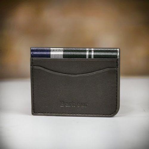 Barbour Leather Wallet/Card Gift Set, Farrar & Tanner