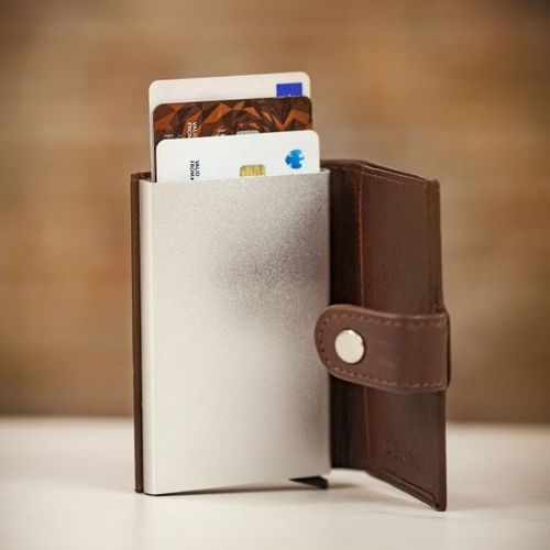 Dents Flip up Card Holder - English Tan, Farrar & Tanner