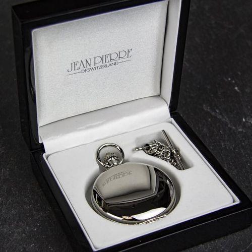Jean Pierre Double Hunter Skeleton Pocket Watch, Farrar & Tanner