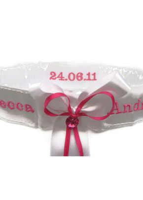 Adina Garter Fuschia, Aye Do Wedding Accessories