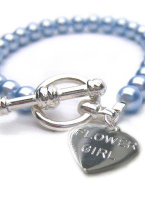 Flower Girl Harmony Bracelet - pale blue, Aye Do Wedding Accessories