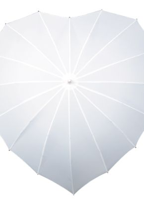 Heart Umbrella - White, Aye Do Wedding Accessories