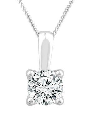 18ct White Gold 0.50ct Diamond Solitaire Adjustable Pendant, 1303