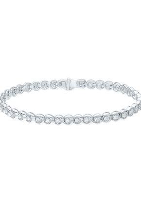 9ct White Gold 1ct Diamond Tennis Bracelet, 1303