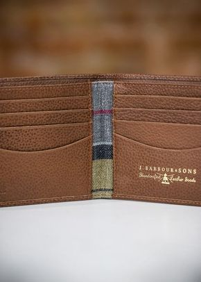 Barbour Grain Leather Billfold Wallet - Tan, 1307
