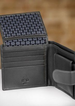 Charles Smith RFID Billfold Wallet with Coin Purse - Black, 1307
