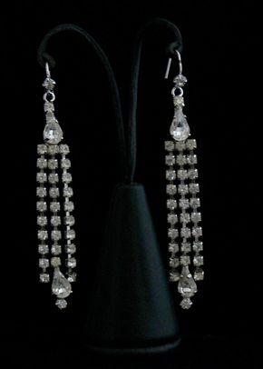 Diamante Earrings, Flo & Percy Jewellery