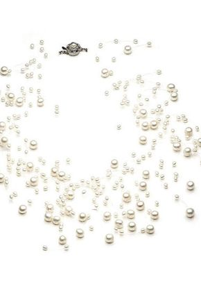 Genevieve Floating Bridal Necklace, Girls-Love-Pearls