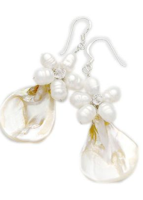 White Rumba cluster earrings , Westwood Rocks Jewellery