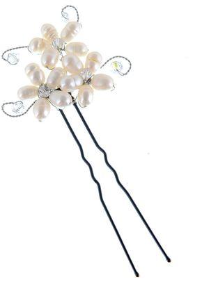 White Daisychain hairpin , 873