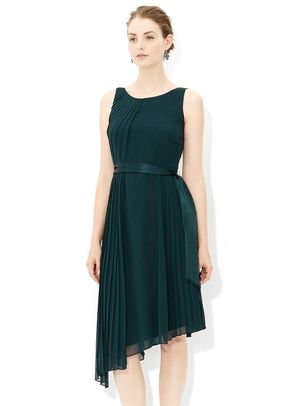 Whitney Pleat Dress in Green, Monsoon Accessories