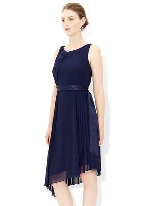 Whitney Pleat Dress in Navy, 461