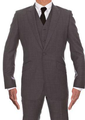 Grey Wool 2 Piece & Waistcoat, Adam Waite