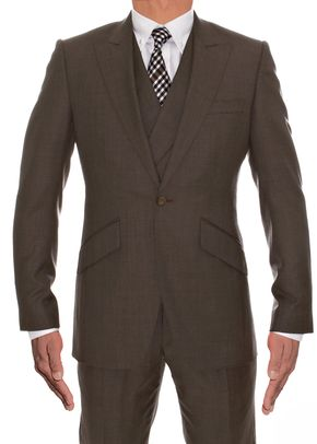 Mid Brown Wool Suit, 973