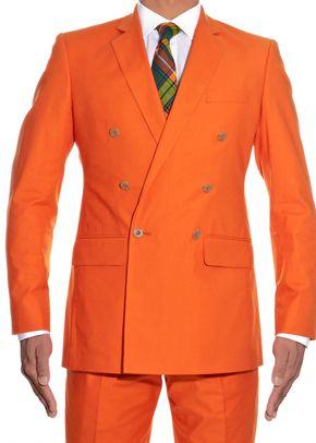 Orange Cotton Double Breasted, 973