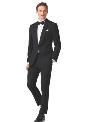 Black extra slim fit dinner suit, Charles Tyrwhitt