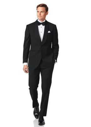 Black slim fit shawl collar dinner suit, Charles Tyrwhitt