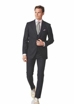 Charcoal birdseye slim fit travel suit, Charles Tyrwhitt