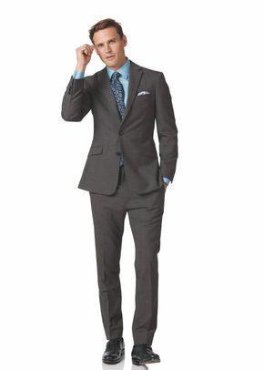 Grey slim fit business suit, 1129