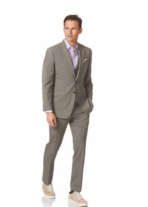 Natural puppytooth slim fit Panama business suit, 1129