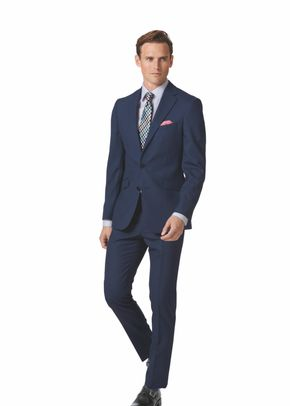Royal blue extra slim fit merino business suit, Charles Tyrwhitt
