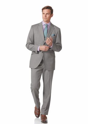 Silver grey classic fit Italian suit, Charles Tyrwhitt