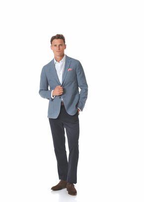Slim fit light blue Italian wool blazer, Charles Tyrwhitt