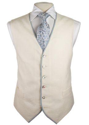 6-button Waistcoat Ivory / Blue (FBM19), Favourbrook