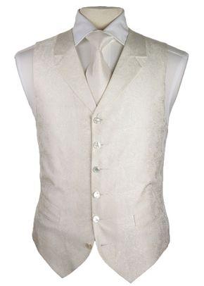 6-button White Paisley (FBM2), Favourbrook