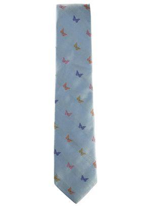 Silk Jacquard Tie Blue Butterflies, Favourbrook