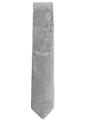 Woven Silk Tie Silver Ottoman, Favourbrook