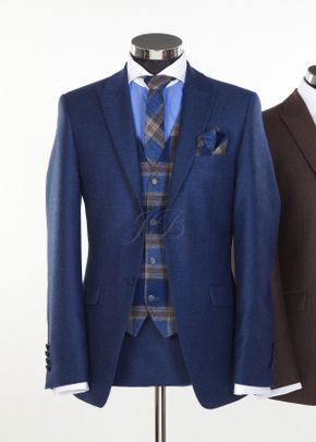 Newbury - Flannel & Tweed Slim Wedding Suit Hire - From Jack Bunneys, Jack Bunneys