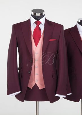 York - Vintage Wedding Suit – Burgundy from Jack Bunneys, Jack Bunneys