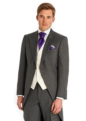 DKNY SLIM FIT PANAMA BLUE SUIT, Moss Bros