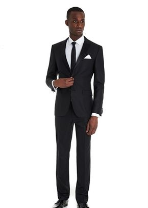 MOSS 1851 TAILORED FIT NAVY TEXTURED MIX AND MATCH JACKET, Moss Bros