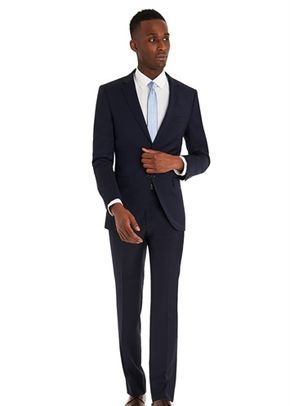 DKNY SLIM FIT PANAMA BLUE SUIT, 1215