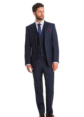 LANIFICIO F.LLI CERRUTI DAL 1881 TAILORED FIT INDIGO MIX AND MATCH SUIT JACKET, 1215