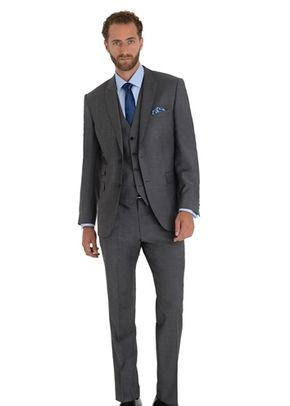 MOSS 1851 TAILORED FIT GREY TONIC MIX AND MATCH PEAK LAPEL SUIT JACKET, 1215