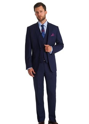 MOSS 1851 TAILORED FIT NAVY TEXTURED MIX AND MATCH JACKET, 1215