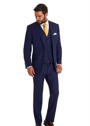 SAVOY TAYLORS GUILD REGULAR FIT BLUE BIRDSEYE MIX AND MATCH SUIT JACKET, 1215