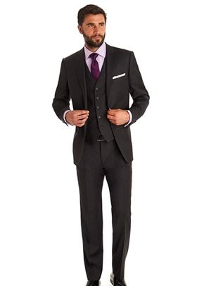 SAVOY TAYLORS GUILD REGULAR FIT CHARCOAL MIX AND MATCH SUIT JACKET, 1215