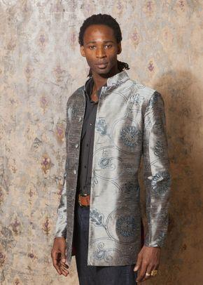 Silk Jacket Men Nehru Mercury, Shibumi Groomswear