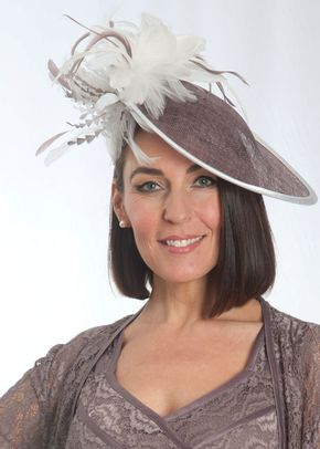 Cappuccino Ivory Feathers Mid Hatinator, 1125