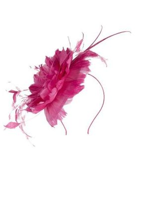 Pink Feather Rose Fascinator, 1125