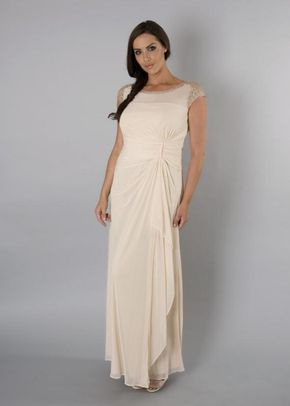Champagne Sequin Mesh Dress, 1123