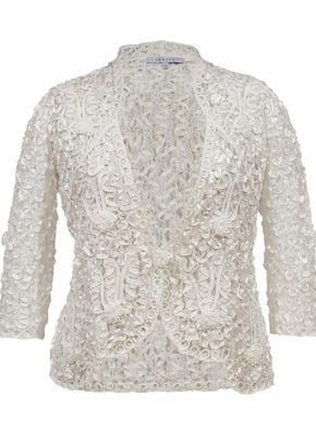 Ivory Lace Cornelli Embroidered Jacket, 1123