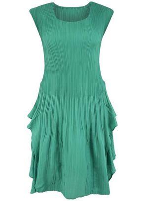 Jade Crush Pleat Layered Dress, Chesca