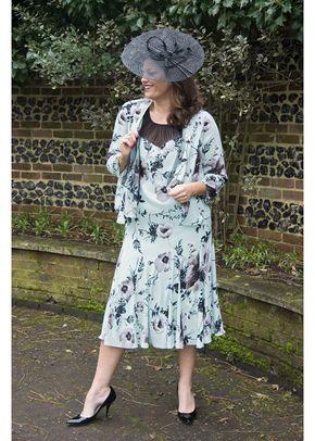 Opal Spot Mesh Yoke Poppy Print Dress, 1123